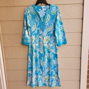 Charter Club Cotton Paisley print nightgown size S